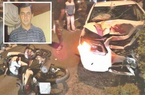 Loreni Ferreira (detalhe) tinha 47 anos. Ele morreu a caminho do hospital minutos depois da colisão   -  Fotos:Divulgação/Notisul