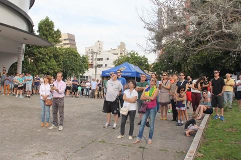O primeiro ato na rua ocorreu ontem, nada impede que atividades semelhantes sejam realizadas nos próximos dias. - Foto: Jailson Vieira/Notisul.