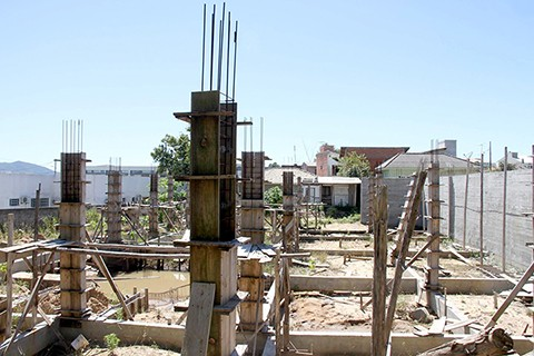 Pouco mais de 10 por cento da obra foi realizada até agora. - Foto: Divulgação/Notisul.