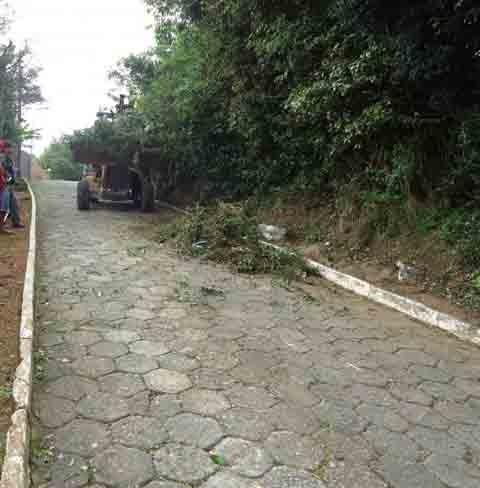 Crime teria sido registrado na rua Osvaldo Aranha, região central de Laguna. Via tem ligação com o Morro da Glória, onde há alguns pontos de tráfico de drogas   -  Foto:Prefeitura de Laguna/Divulgação/Notisul