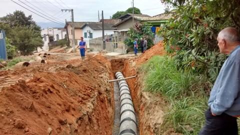 A obra beneficiará os bairros Cruzeiro, Sertão dos Corrêa e Fábio Silva. - Foto: Divulgação/Notisul.