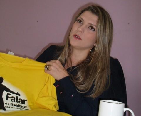 """Voluntária Vivian Prá Philippi:  """"Me encantei com a proposta""""  - Kalil de Oliveira/Notisul"""