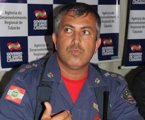 Tenente-Coronel Marcos Aurélio Barcelos   -  Foto:Rafael Andrade/Notisul