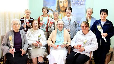 Atualmente, 13 irmãs da congregação residem em Tubarão. - Fotos: HNSC/Divulgação/Notisul.
