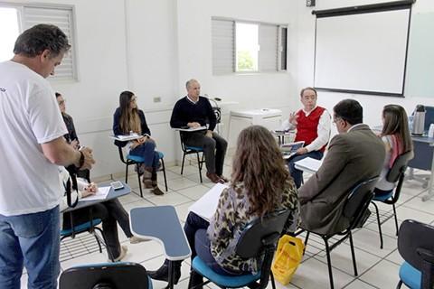 A comissão organizadora  se reuniu com dirigentes empresariais das cidades de Tubarão, Braço do Norte e Araranguá. - Foto: Divulgação.