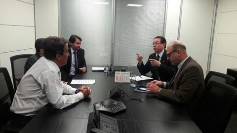 Parlamentares catarinenses participaram de encontro com o presidente da Caixa em Brasília   -  Foto:Assessoria Edinho Bez/Divulgação/Notisul