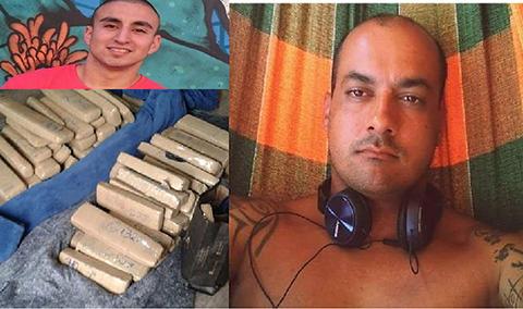 Os dois eram acusados de furtar, em março deste ano, aproximadamente 100 quilos de maconha. - Fotos: Divulgação/Notisul.