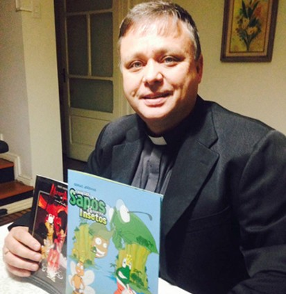 Escrever é uma atividade solitária, diz padre Sérgio Jeremias  -  Fotos:Divulgação/Notisul