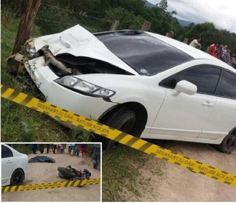 O acidente foi registrado neste sábado por volta das 17h30min  -  Fotos:Divulgação/Notisul