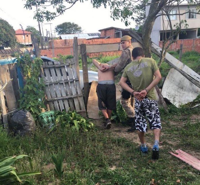 PPT realizou a prisão dos envolvidos pouco tempo depois do crime. Foto: Portal AHora/Divulgação/Notisul