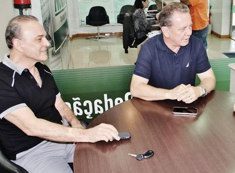 Prefeito eleito em Tubarão, Joares Ponticelli, e deputado federal Jorge Boeira detalharam os procedimentos para com o BNDS ontem, em visita à Redação do Notisul