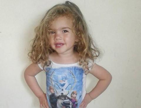 Com 45 dias de vida, a menina foi diagnosticada com Alergia à Proteína do Leite de Vaca (Alpv)  -  Foto:Arquivo de família/Divulgação/Notisul