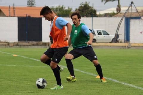 O grupo Tricolor realizou o penúltimo treino nesta sexta-feira antes de 'pegar' o Almirante Barroso  -  Foto:William Lampert/Divulgação/Notisul