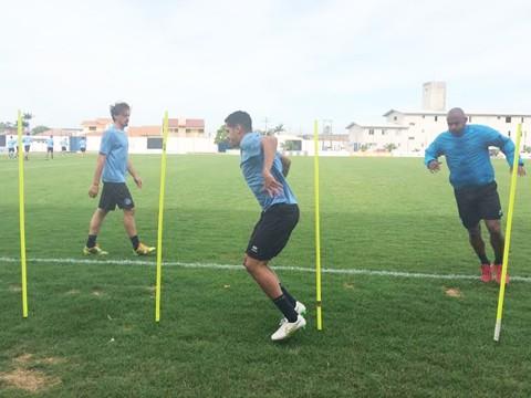 O grupo realizou atividade em preparação para o jogo do fim de semana  -  Foto:William Lampert/Divulgação/Notisul