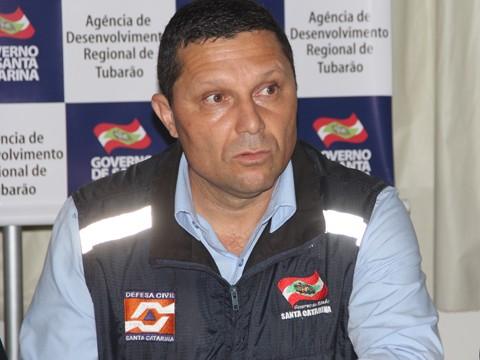 Coordenador Regional da Defesa Civil Anderson Martins Cardoso elabora plano de trabalho junto à equipe do órgão  -  Foto: Rafael Andrade/Notisul