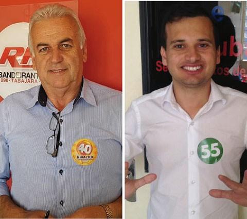Nivaldo (E) foi duas vezes vice-prefeito e secretário de obras no município. Vicente Corrêa disputou o pleito pela primeira vez em 2016  -  Fotos:Divulgação/Notisul
