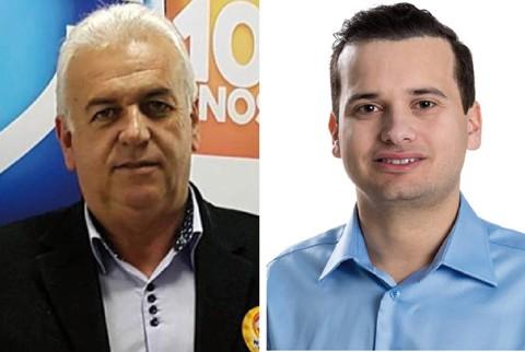 Nivaldo (E) foi duas vezes vice-prefeito e secretário de obras no município. Vicente Corrêa disputou o pleito pela primeira vez em 2016  -  Foto:Divulgação/Notisul