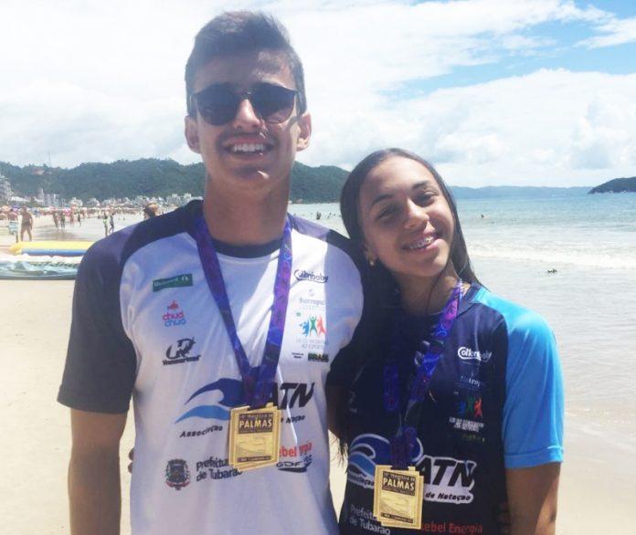 Julia Tartari e Bruno Avelino de Oliveira   -  Foto: Glênio Gonçalves/Divulgação/Notisul
