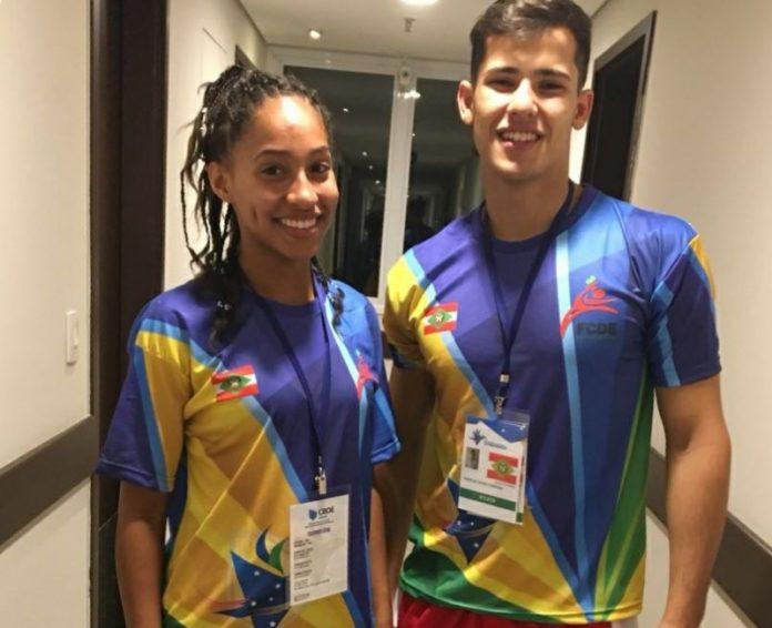 Gabryelle Diniz e Murillo Cândido representam a cidade de Imbituba