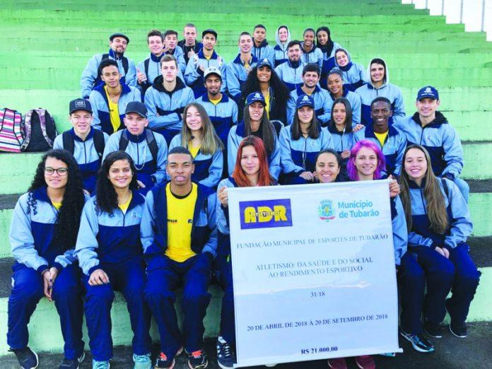 Delegação tubaronense de atletismo conquistou várias medalhas nos Joguinhos  -  Foto : Adra/Divulgação/Notisul
