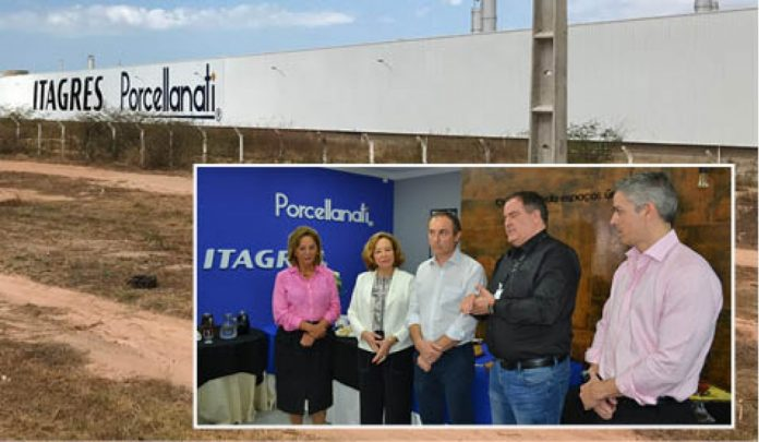 Murilo Bortoluzzi (C), presidente da Itagres, participou ao ato inaugural do escritório da filial, nesta quinta, em Mossoró  - Fotos: itagres/Divulgação/Notisul