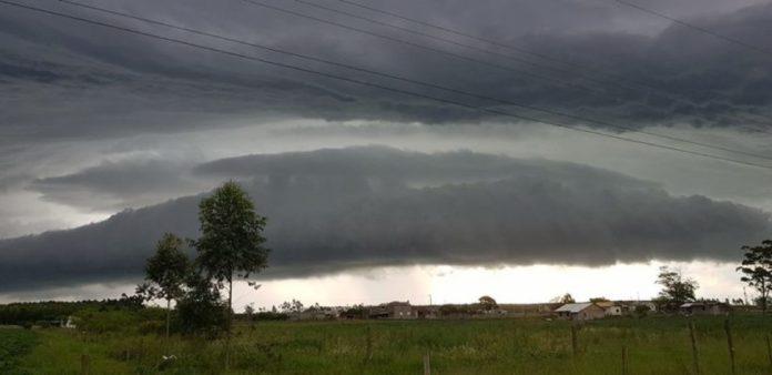 Foto: Tempestade em Araranguá no mês de Janeiro/ Portal Agora Sul