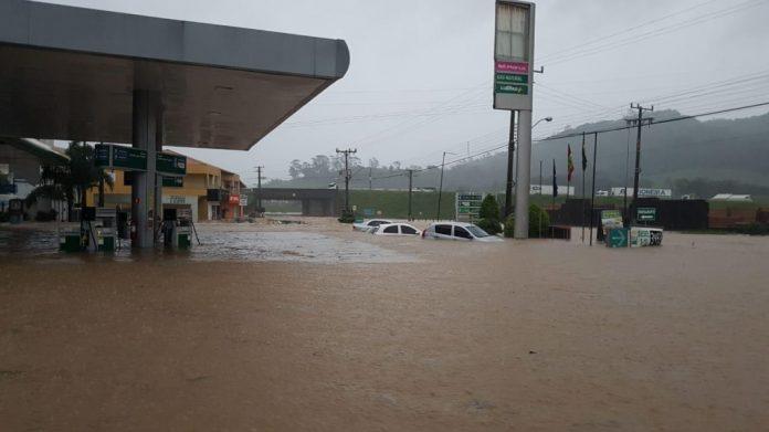 Entrada de Jaguaruna na tarde desta sexta-feira. Foto redes sociais