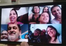 "Família reunida para o famoso ""parabéns"""