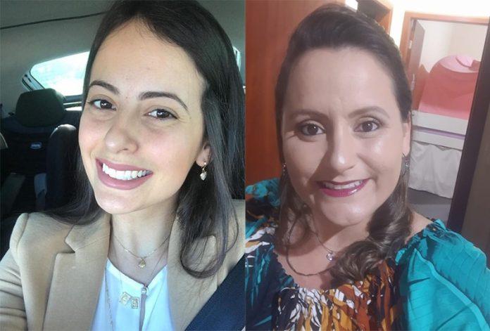 #Pracegover Foto: Na imagem há duas mulheres jovens, Karolina e Fernanda que descobriram nesta quarta-feira (9), que são irmãs