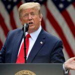#Pracegover Foto: na imagem o presidente norte-amercicano Donald Trump em discurso