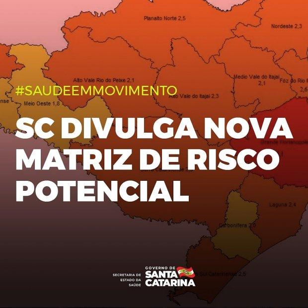 #Pracegover Foto: na imagem há o mapa de SC