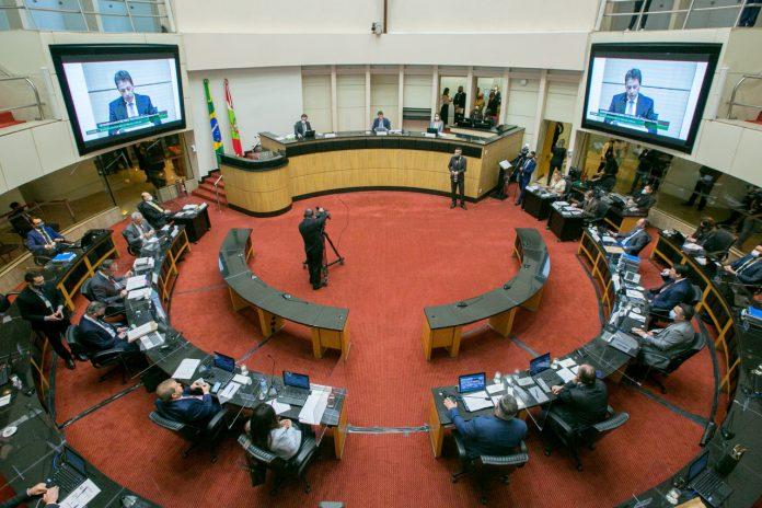 #Pracegover Foto: na imagem Tribunal de Julgamento do 1º impeachment, em sessão do dia 23 de outubro