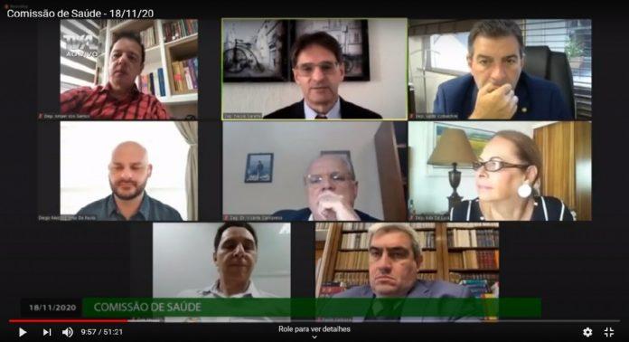 #Pracegover Foto: na imagem há uma reunião virtual entre os deputados