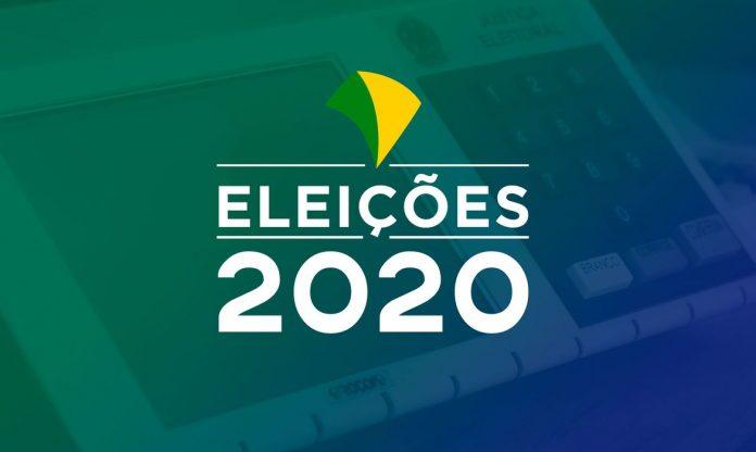 #Pracegover Foto: na imagem há um banner com a frase Eleições 2020