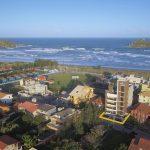 #Pracegover Na foto, uma imagem aérea de Imbituba