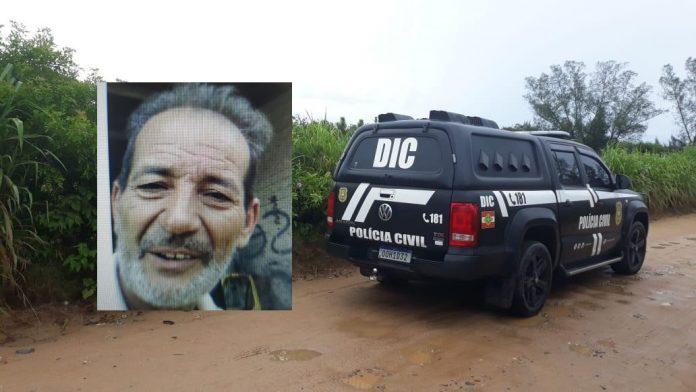 #Pracegover Na foto, uma montagem de Ademir Bento e um carro da Polícia Civil