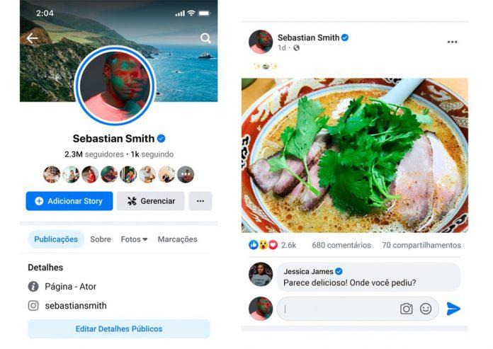 #Pracegover Na foto, a imagem do novo visual do Facebook e a substituição do botão de curtir para seguidores