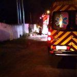 #Pracegover Foto: na imageem há veículos do corpo de bombeiros