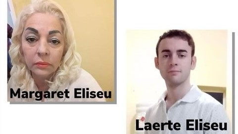 #Pracegover Na foto, Margarete e Laerte