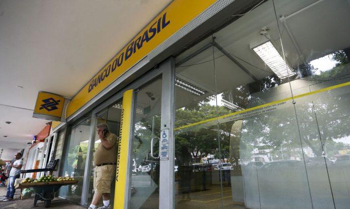 #Pracegover Na foto, fachada da agência bancária do Banco do Brasil