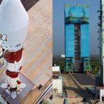 #pracegover Na foto, lançamento do satélite 100% projetado no Brasil, Amazonia-1