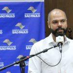 #pracegover Na foto, Bruno Covas durante discurso