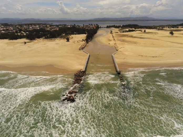 #Pracegover Na foto, imagem aérea da Barra do Camacho