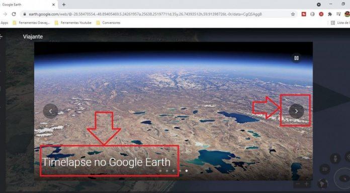 #Pracegover Na foto, ilustração do Google Earth