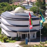 #Pracegover Na foto, uma imagem aérea do museu