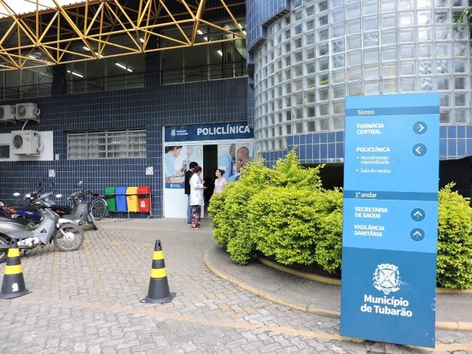 #Pracegover Na foto, fachada da Policlínica