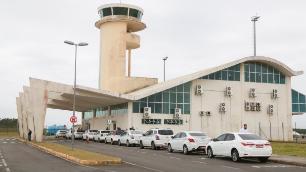 #pracegover Na foto, aeroporto de Jaguaruna
