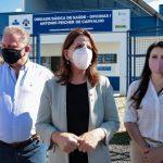 #Pracegover Na foto, à esquerda o prefeito de Tubarão Joares Ponticelli, no centro a Secretária de Saúde de Santa Catarina Carmen Zanotto e à direita Kércia Menegaz