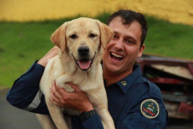 #Pracegover Foto: na imagem há um homem e um cão