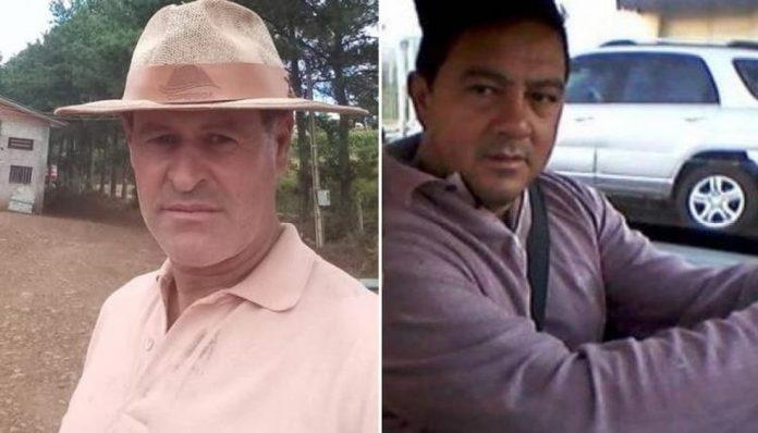 #Pracegover Na foto, Ivo Mazzuco à esquerda usando chapéu e à direita, José Adilson Ferreira, dentro de um carro